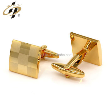 Wholesale custom brass gold plated metal cuff links