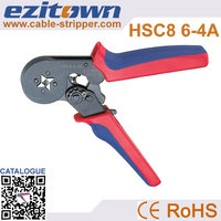 Crimping capacity 0.25-6.0mm2 saving energy ratcheting wire crimper