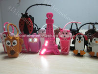 Cute animal 3d silicone hand sanitizer holders