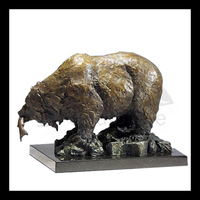 High quality life size bronze bear family sculpture for sale bronze animal sculpture