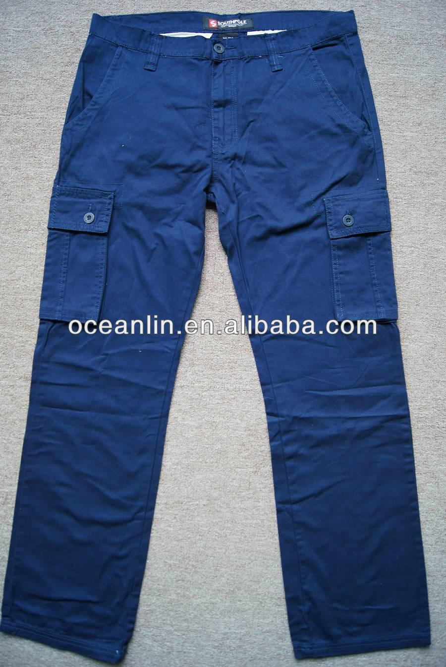 hot sale wholesale men pocket cargo pants with many pockets