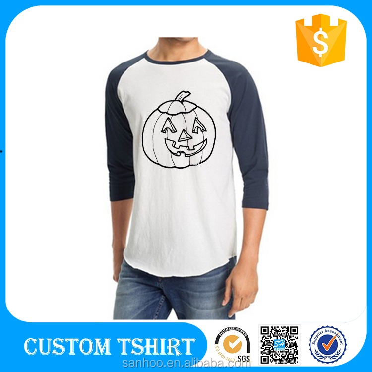 B2B Online Wholesale Shop 3/ 4 Sleeve T Shirt Wholesale Raglan T Shirt Packaing