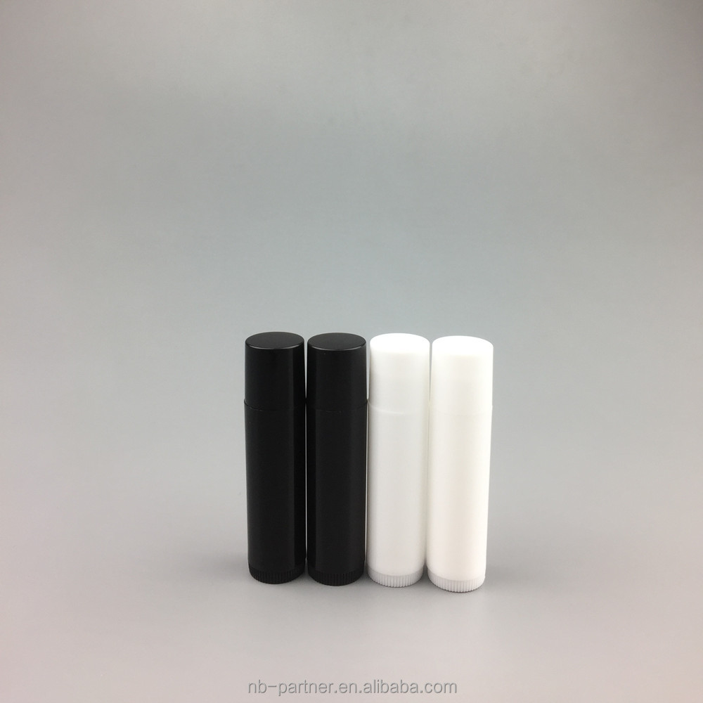 free samples 5g white black pink palstic empty clear lipstick tubes/oval lip balm containers/lip gloss tubes