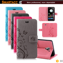 Butterfly Flower Pattern PU Leather Flip Cover Case For Zte Blade A510