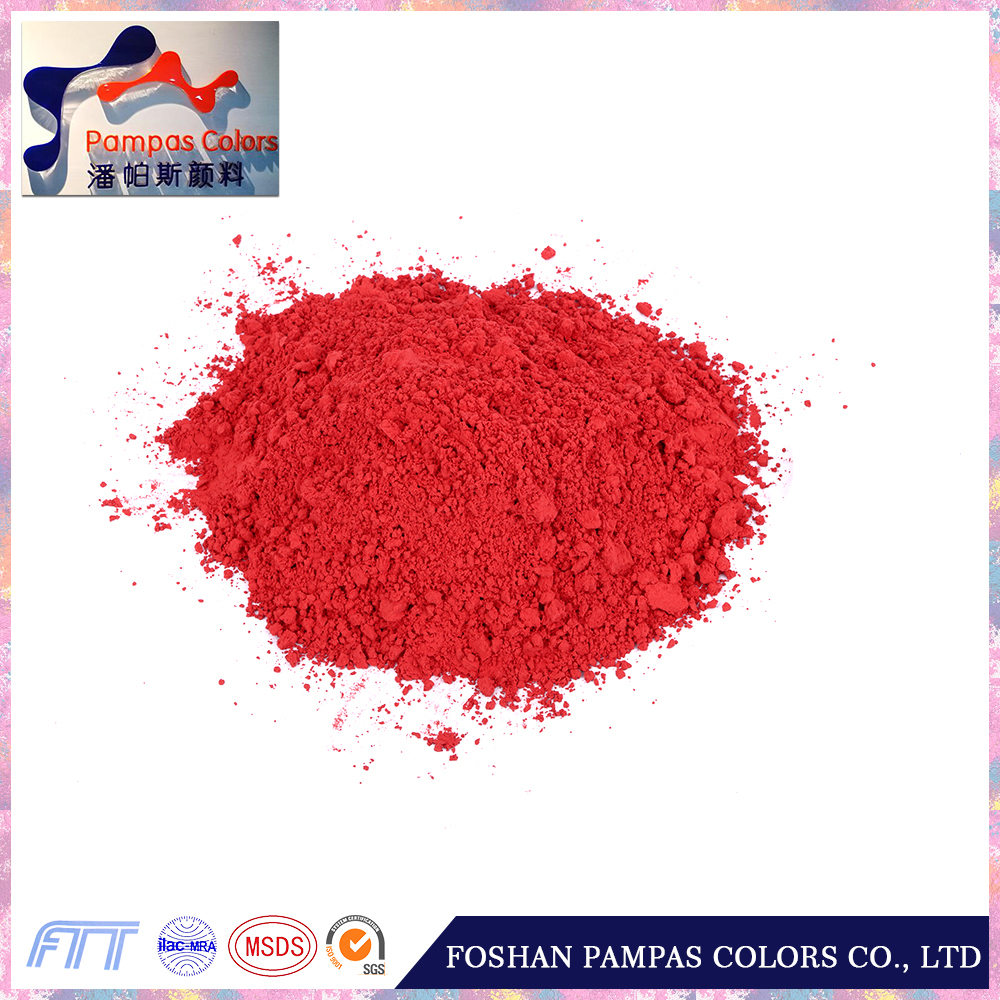 iron oxide red colors pigment and yellow powder