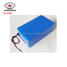 Nominal 4S 14.8V Lithium Battery Rechargeable 12V 50Ah Li-Ion Battery Pack for LED Light