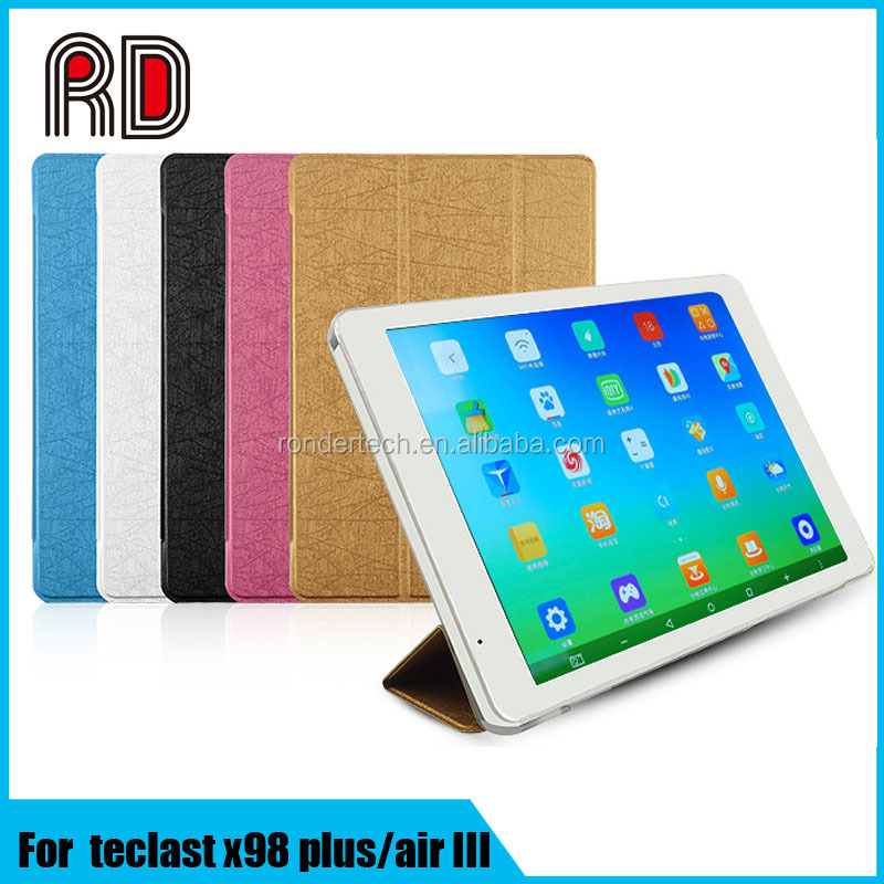 Book Style 5 color flip leather case cover for teclast x98 Air III/ air II/3G/ X98 plus