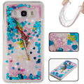 for samsung galaxy j3 bling glitter liquid clear floating quicksand TPU case