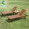Outdoor swing lounge, swimming pool lounge chair in wood