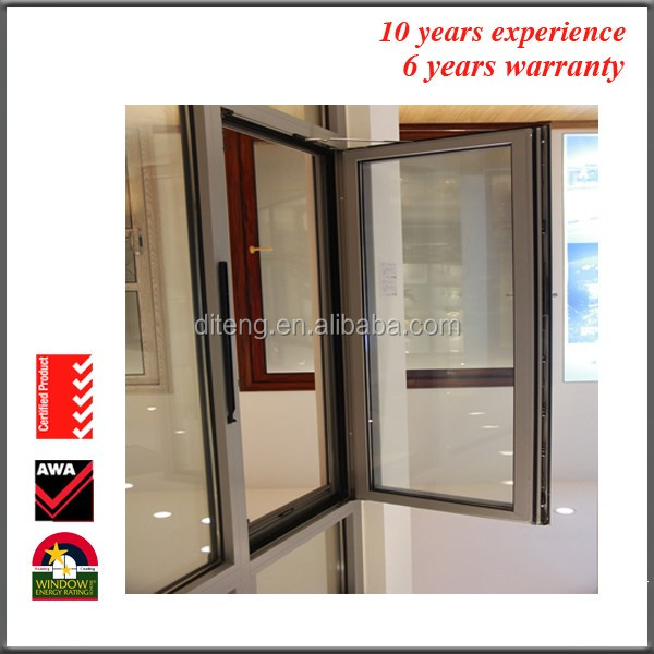Wholesale Double Glass Window with Standard Window Sizes for Sale Cheap General Aluminium UPVC Casement French Windows
