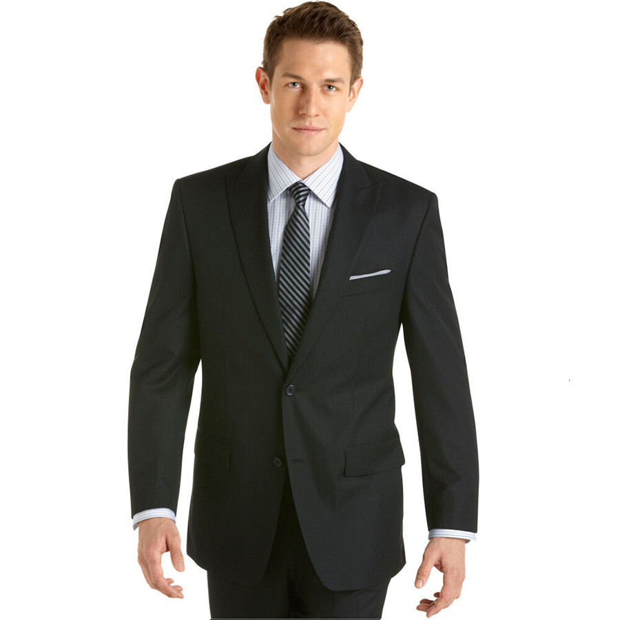49e7f801b9 Get Quotations · Custom Made! 2015 Superior quality Slim Fitted Groom Suits  mens clothing Black Wedding Men Suits