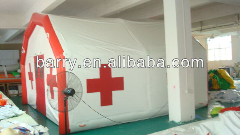 Barr 2013 Hot-sale inflatable rescue tent/infatable medical/inflatable event tent by PVC tarpaulin