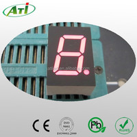 1.5 inch 7 segment led display, red color 1 digit