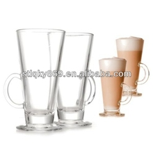 Espresso glass cups of coffee for bars custom latte cups clear glass mug with handle for drinking coffee latte glass