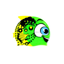 Kids silicone fish swim cap DL05