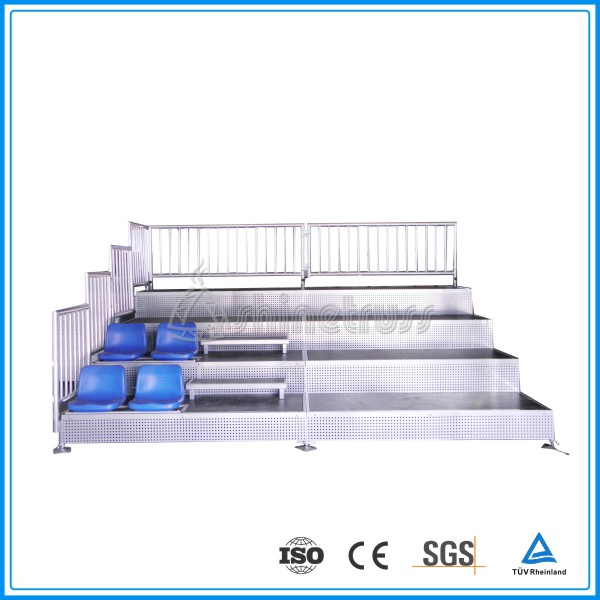 Outdoor stadium grandstand retractable bleacher seating