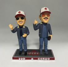 Cheap sports player dual bobbleheads resin custom bobble head figurines