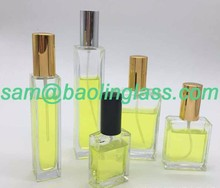 1.7 oz (50ml) Square Flint Glass Empty Refillable Replacement Glass Perfume or Cologne Bottle with Spray Applicator