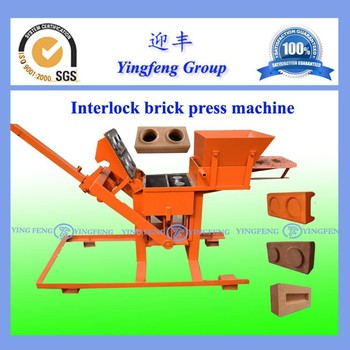 small machinery manufacturers YF2-40 manual block making machine