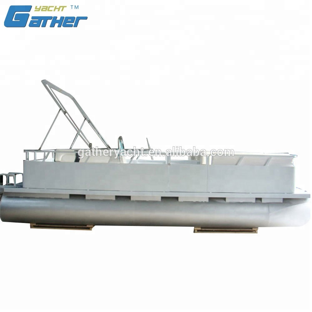 Gather hot sale aluminum pontoon <strong>boat</strong>