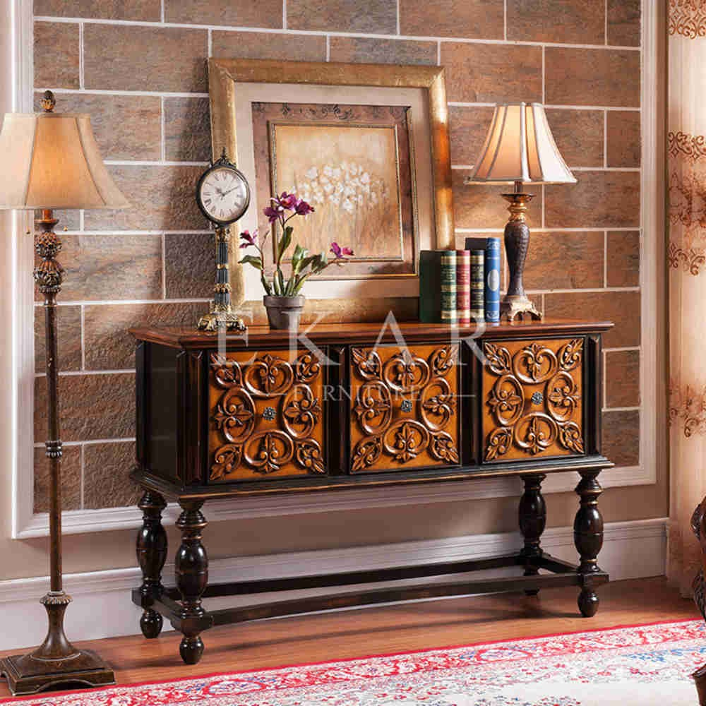 Classic console tables - Long Narrow Console Table Wood Carved Antique Drawer Cabinet Drawer Table Luxury Classic Console Table Buy Console Table Drawer Cabinet Drawer Table