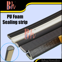 Wholesale PU Foaming Cladding Durable Self Adhesive Aluminum Wood Door Window Seals Sealing Strips Weatherstripping Accessories