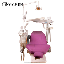 Full set dental unit with dental chair accessories