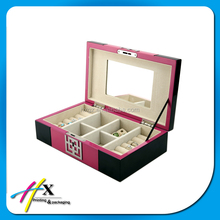 GuangDong Factory Produce Lovely Pink MDF Toy Box with Lock
