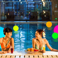 IP 68 waterproof garden decoration swimming pool led ball 16 color changing floating led ball light