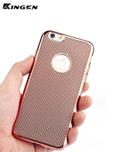 2017 New Luxury Woven Pattern Chrome Gel Net Electroplate Soft TPU Case for iPhone 6 6s 6Plus