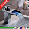 China factory sale basin led water bath tap, led water shower basin mixer tap