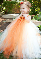 Hot Sale Long Good Quality Lace Flower Halter Lovely Princess Designer Evening Gowns For Kids