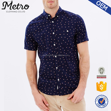 2017 Hot Sale New Casual Style Men's Fashion Printed Shirt