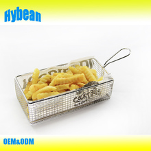 Wire French Fry Basket,Mini Food Serving Basket,Stainless steel Oil Filter