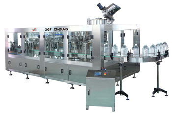 Washing filling and screw capping machine