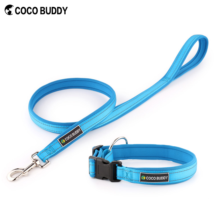 Adjustable Neoprene Padded Dog Collar, Matching Leash & Harness Available Separately