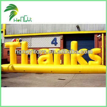 English Word Of Thanks Inflatable Shape