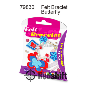 Art & craft DIY felt jewelry Felt Bracelet Butterfly