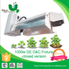 Grow Light Fixture Double Ended 1000W DE HID Lamp Reflector