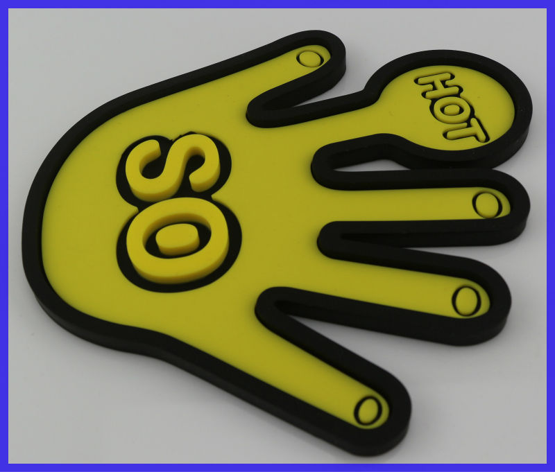 New Design and Decoration 2 Tone Silicone Finger Pot Holder