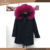 90cm fox fur lined parka with fur hood for women