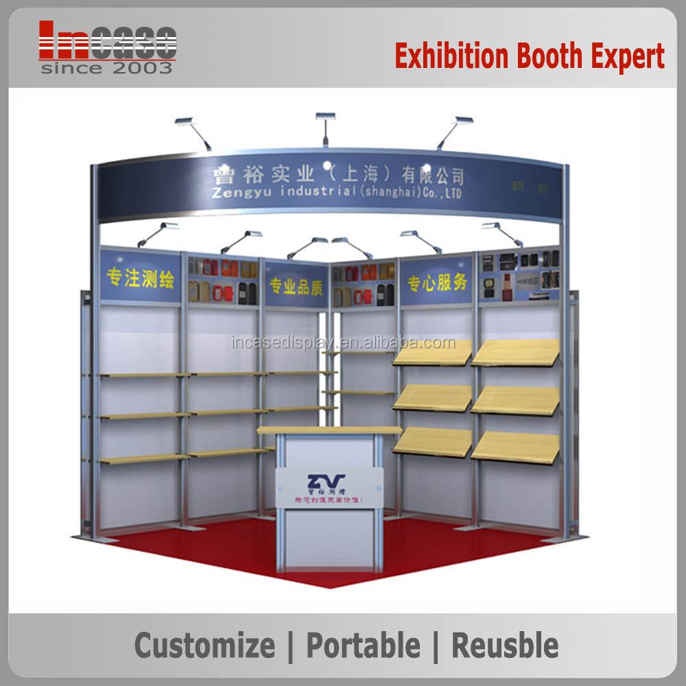 Modular Exhibition Booth : Reusable modular exhibition booth display for shoe trade