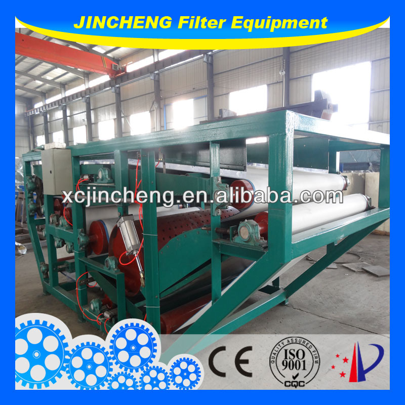 sludge dewatering equipment belt press for filterpaper making, coal washing