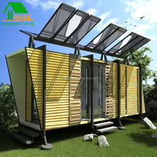 Solar Powered Modular Container Home Expandable luxury prefag house