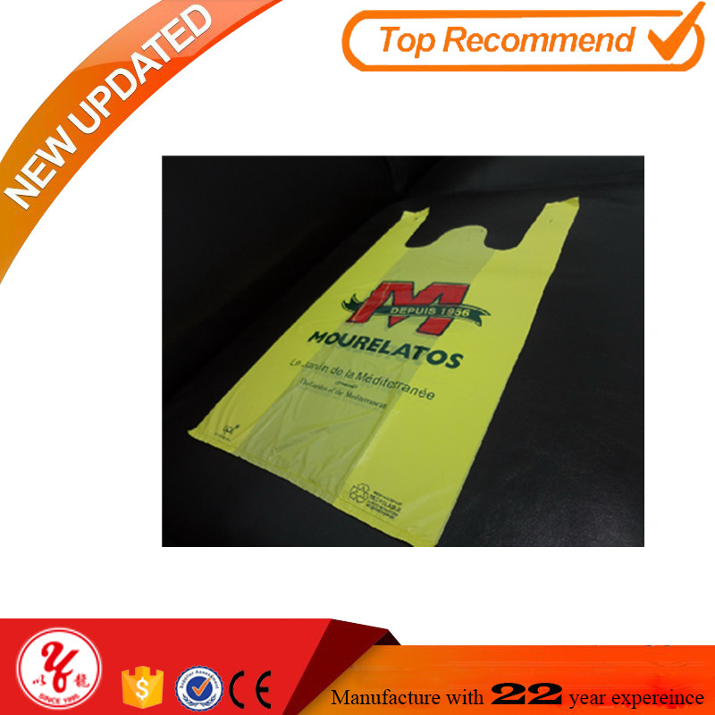 accept lanyards t-shirt bag with custom logo of plastic bag