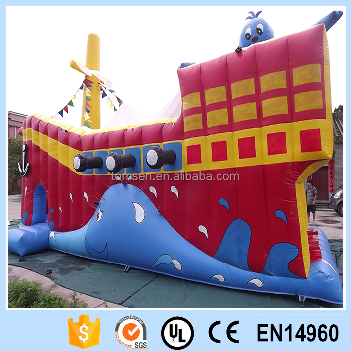 Inflatable boat/inflatable cartoon boat/kids boat bouncer for sale