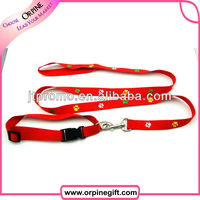 Promotional polyester retractable dog leash and collar