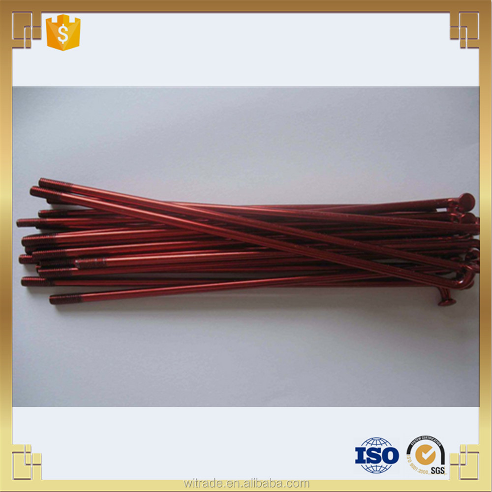 10g red colour varnished motorcycle wheel spokes