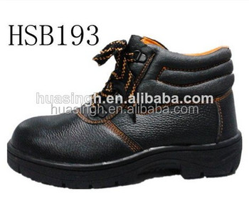 China wholesale cheap price stitching rubber sole metal toe safety shoes for workman