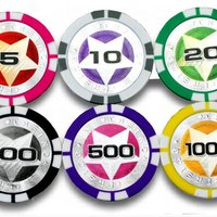 Laser Sticker Poker Chips 11 5g